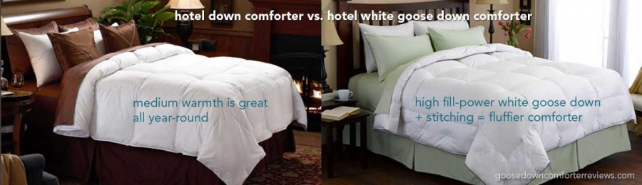 Most popular hotel comforters. Pacific Coast's hotel down comforter and hotel white goose down comforter.