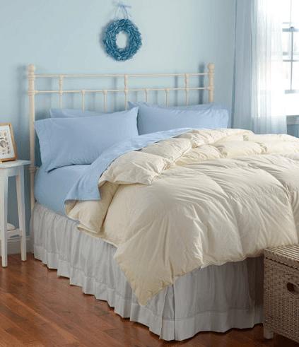 L.L. Bean true Baffle Box Stitch White Goose Down Comforter