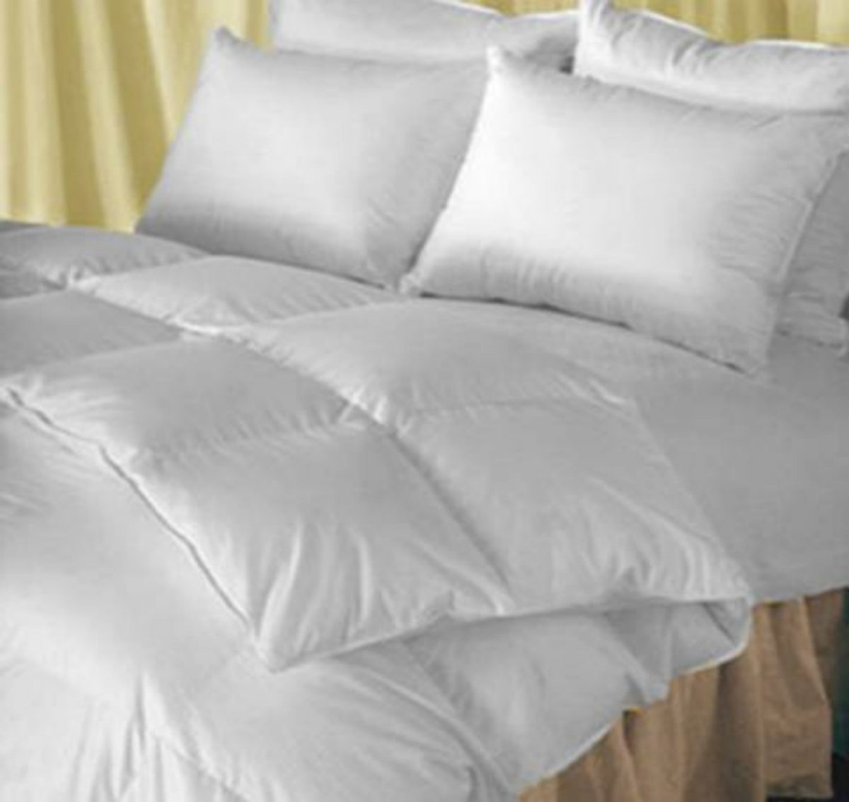 natural comfort classic heavy fill white goose down alternative comforter