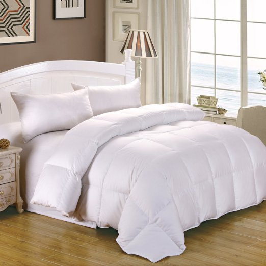 Best all season white goose down comforter with incredible LOFT ...