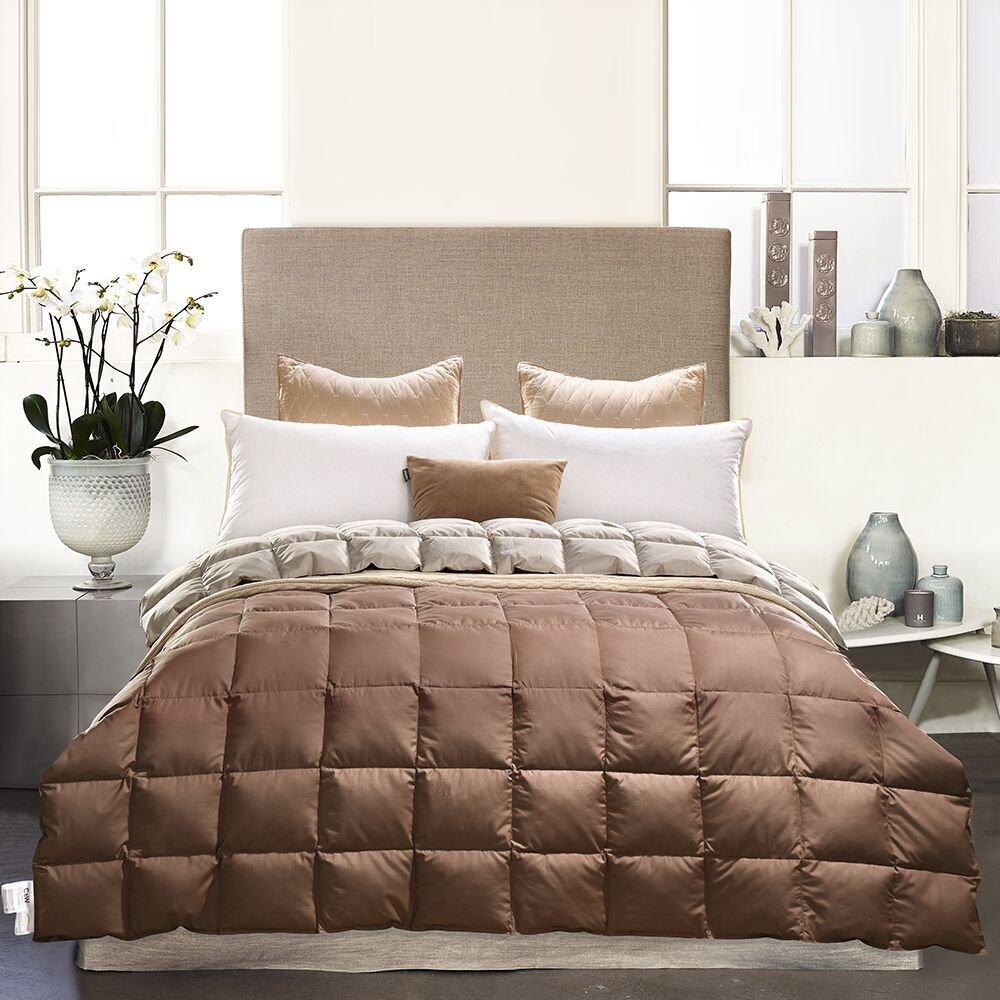 4 Cheap Brown Down Comforters Best Goose Down Comforter
