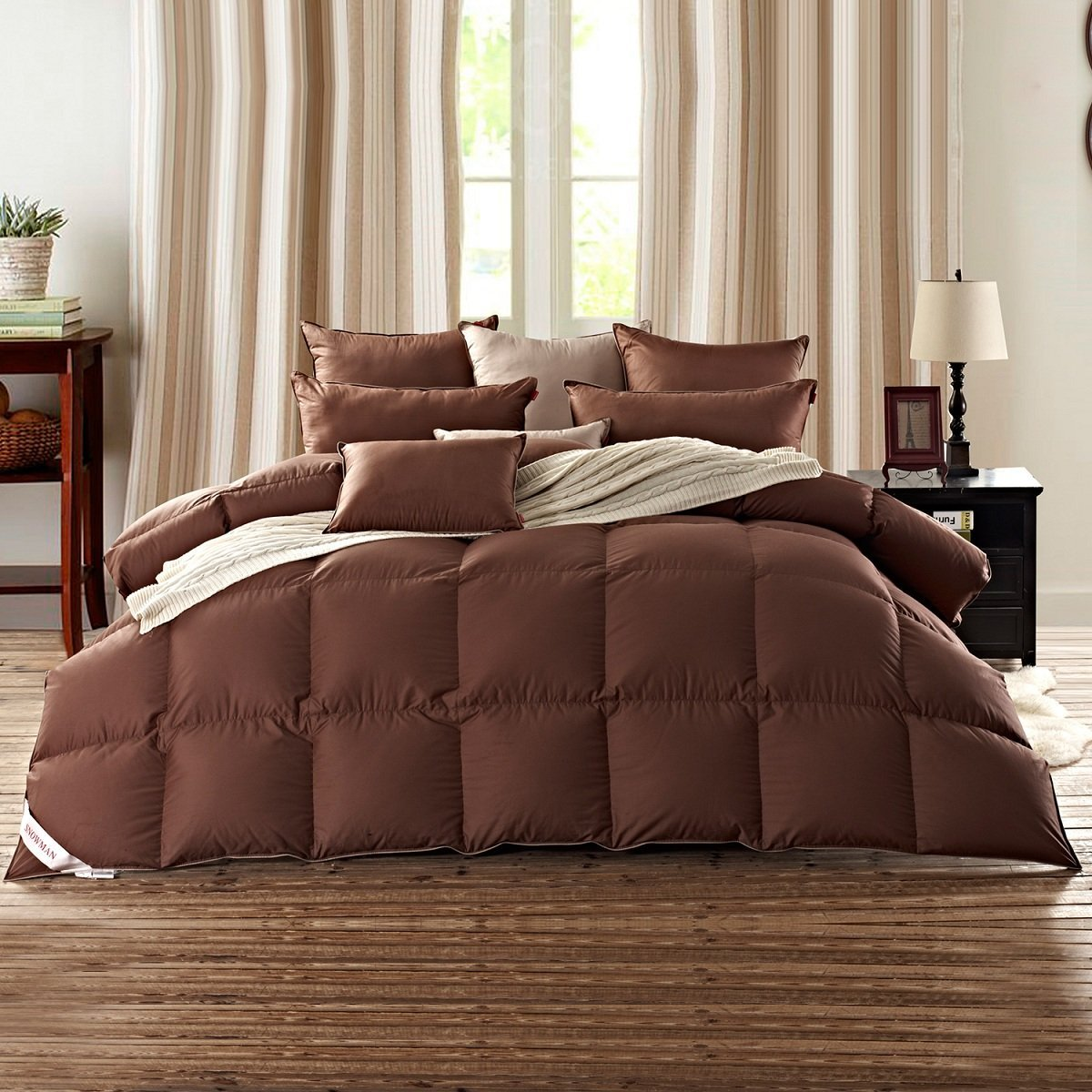 colored goose down comforter not just white and black