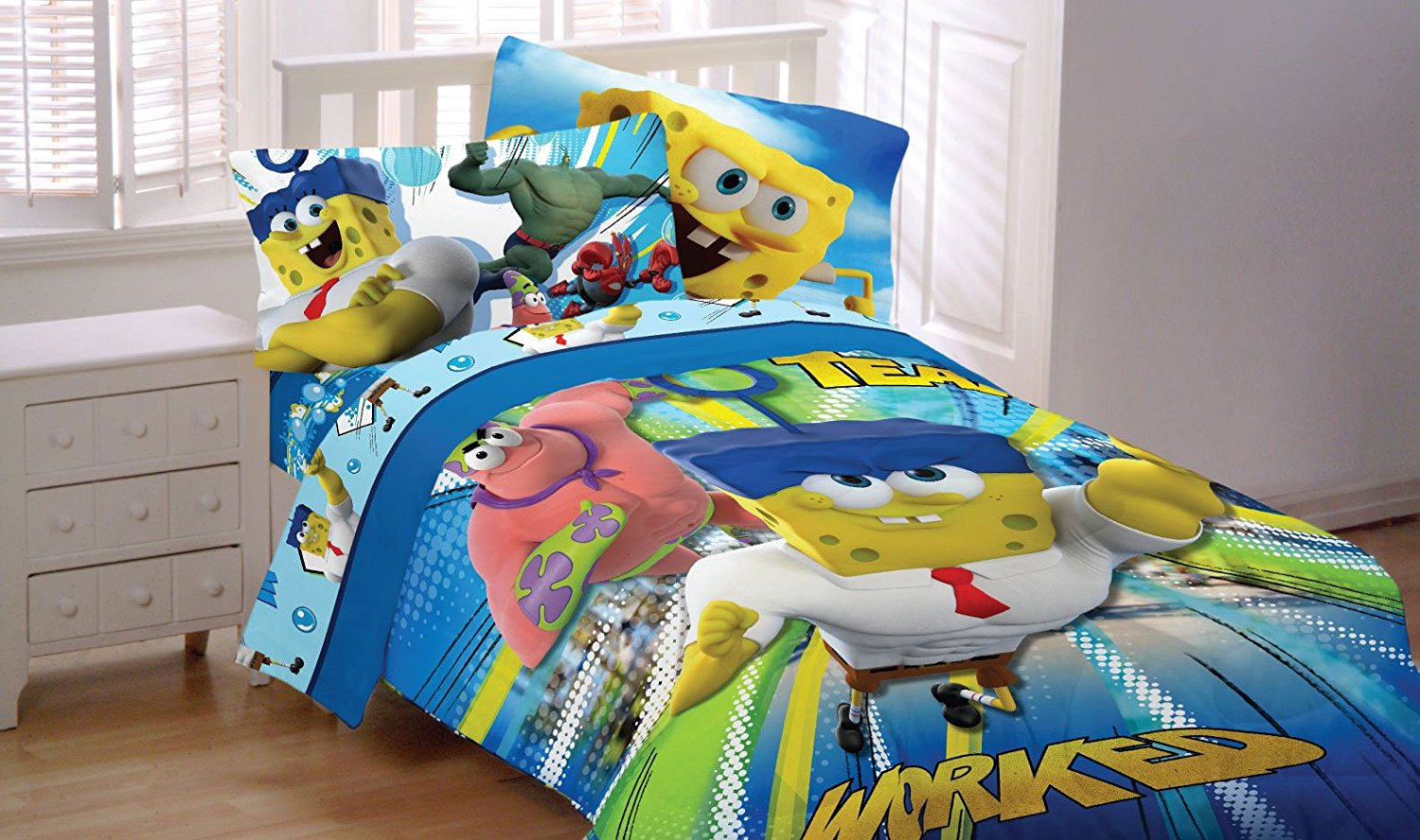 Spongebob Movie Sponge Out of Water Reversible Microfiber
