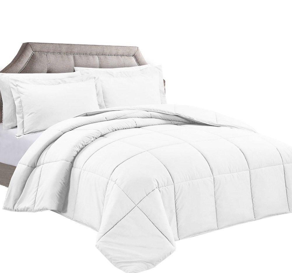 Clara Clark White Goose Down Alternative Comforter Duvet