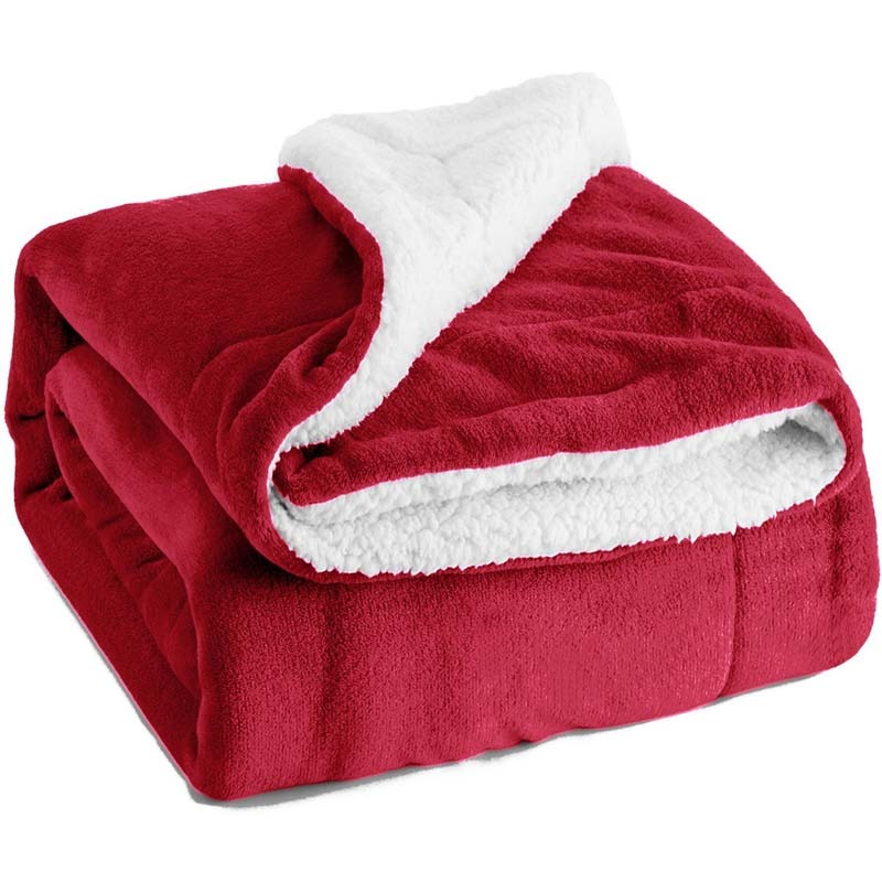 BEDSURE's Sherpa Throw​​​​ Blanket