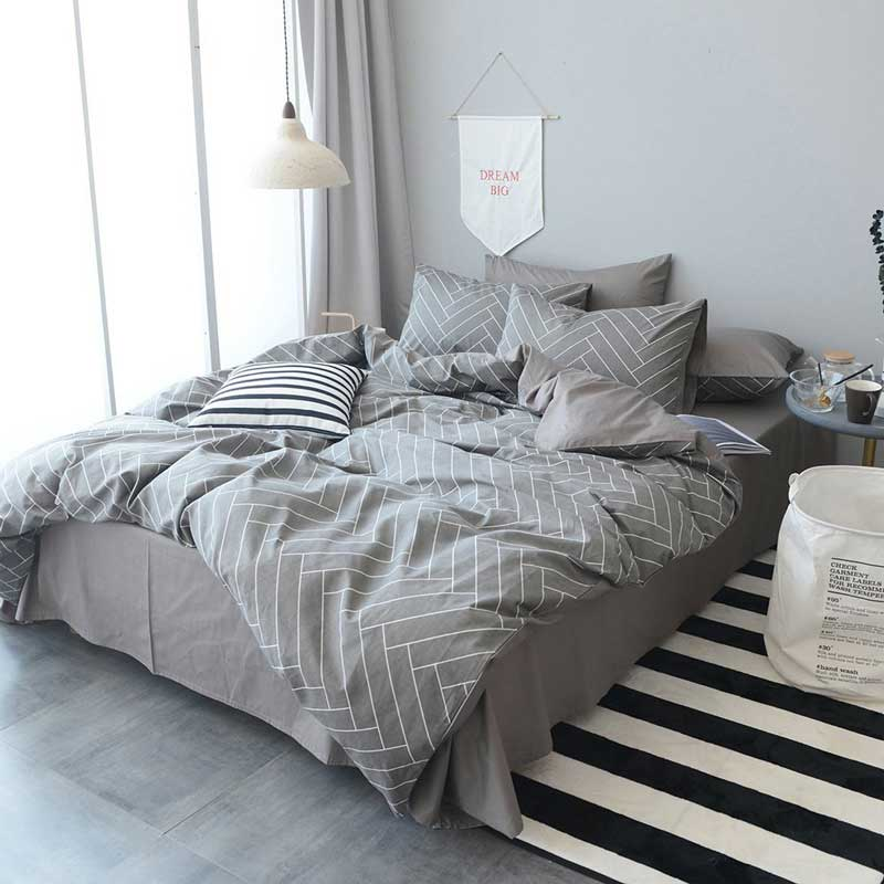 Highbuy-Soft-Geometric-Queen-Duvet-Cover-Set
