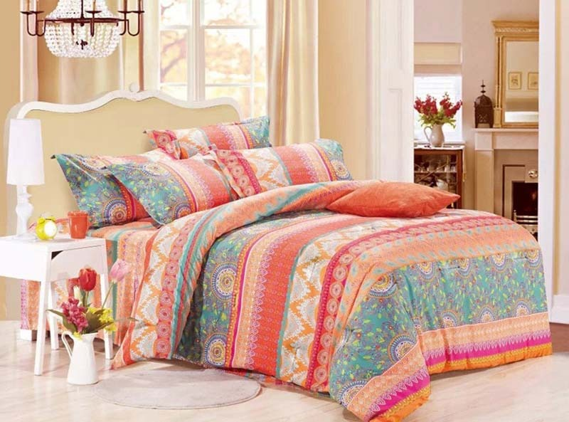 Linen Cotton Mandala Comforter Set Queen