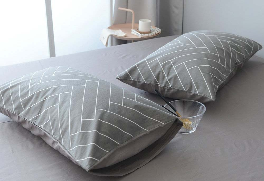 Highbuy Soft Geometric Queen Duvet Cover Set