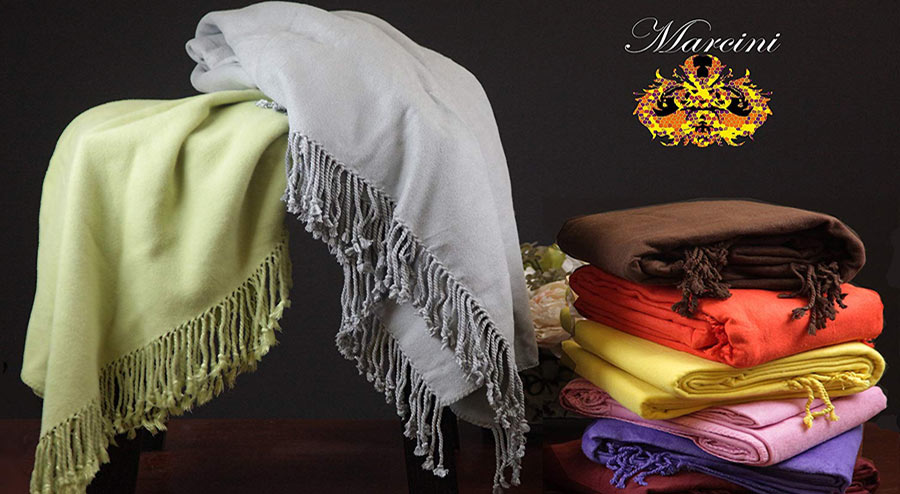 Marcini Bamboo Fiber Cotton Throw Blanket